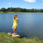 Bella fishing at the pay lake